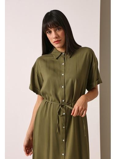 Gusto Gömlek Elbise - Haki Gömlek Elbise - Haki Haki